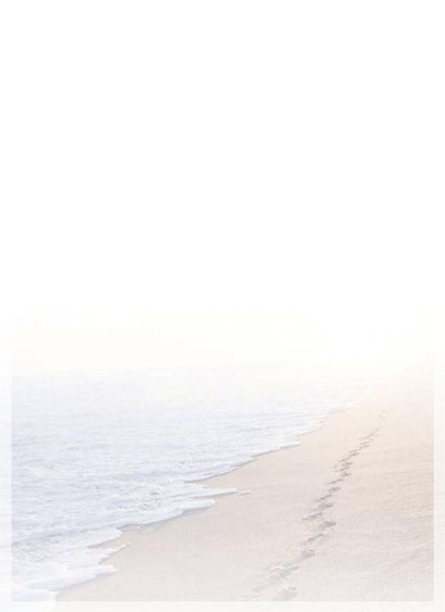 """Rouwkaart 'De voetstappen langs de vloedlijn"""""""
