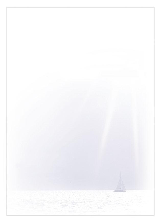 Rouwkaart 'De Zeilboot'
