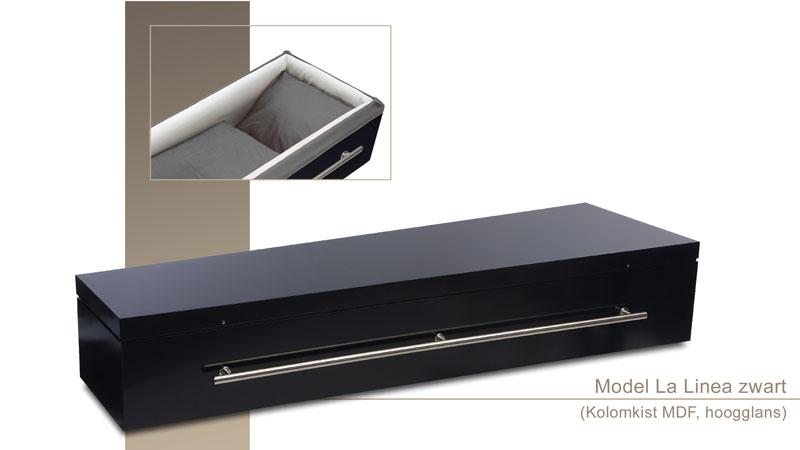 Uitvaartkist model La-Linea-zwart